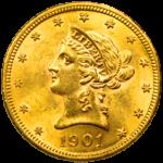 pièce de monnaie 10 dollars US par Or en Cash