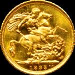 pièce de monnaie Souverain par Or en Cash