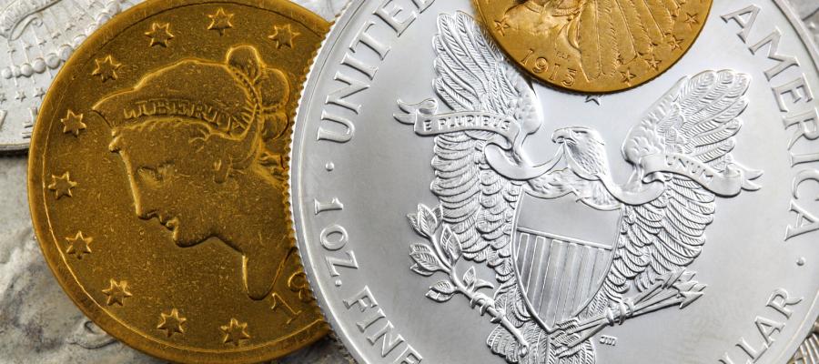 Pièces d'or et d'argent d'investissement américaines