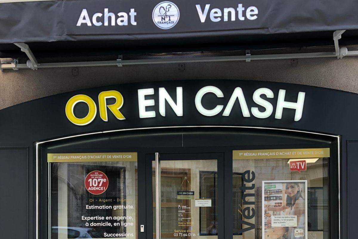 Agence Or en Cash devanture