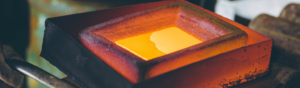 Recyclage des métaux précieux : fonte de l'or