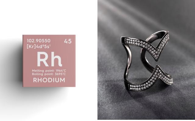 Rhodium et bijou rhodié