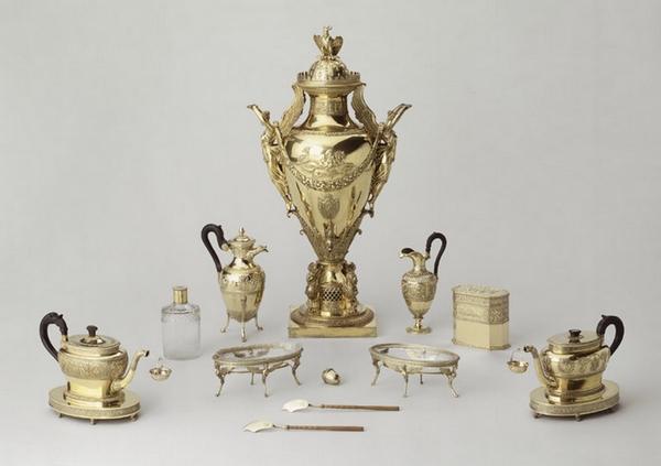 Service à thé de Napoléon Ier, XIXème siècle.