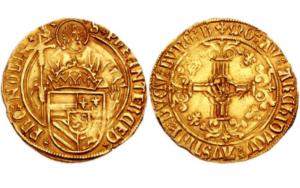 Florin d'or Charles V daté du XVIe siècle