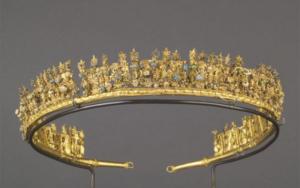 Diadème - or, verre et émail- 3e s. av. J.-C. - Musée du Louvre