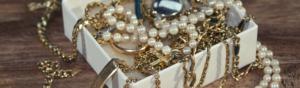 Boite à bijoux en or et en argent