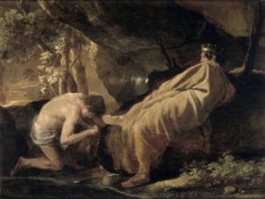 """"""" Midas à la source du fleuve Pactole """" - Nicolas Poussin"""