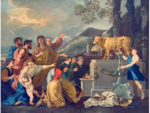 """"""" Adoration du Veau d'or """",Nicolas Poussin (1594-1665)"""