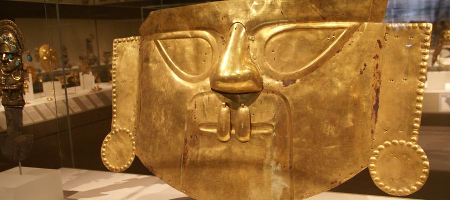 Masque funéraire Inca, IXe-XIe siècle - Lambayeque (Sicán)