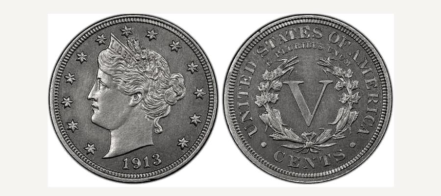 5 Cents 1913 Liberty Head Nickel (Spécimen Eliasberg)