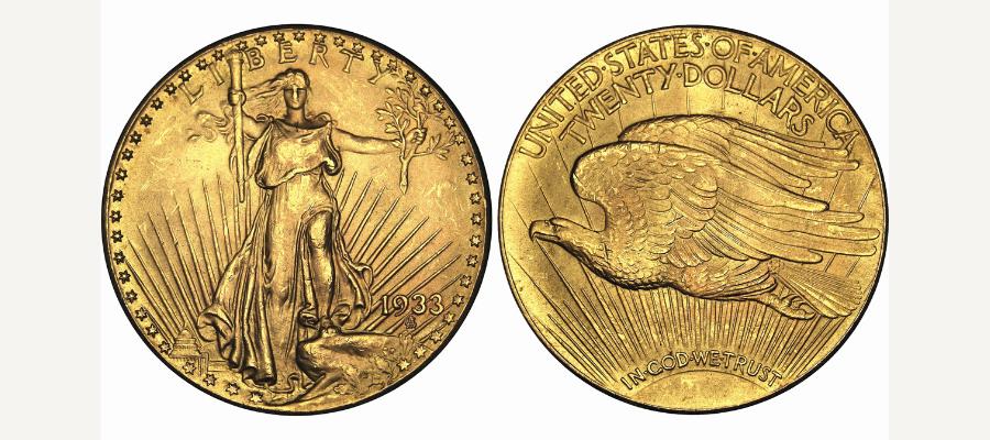 20 dollars Double Eagle Saint-Gaudens 1933