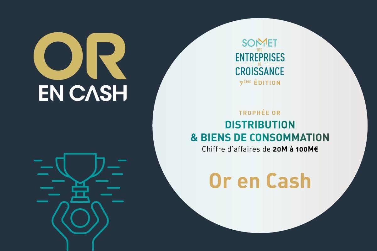 Sommets des entreprises de croissance Or en Cash