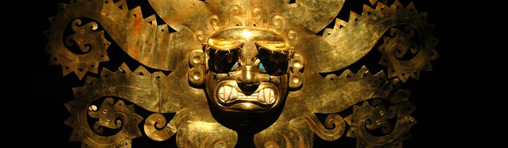 Masque plaqué or péruvien