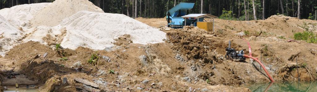 Conséquences de l'orpaillage illégal en forêt équatoriale : déforestation et pollution des eaux