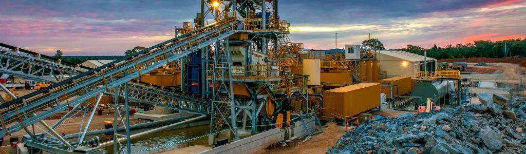 Infrastructure d'extraction d'or et autres minerais précieux en Australie